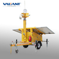 solar powered CCTV trailer for security services