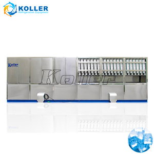 Large square Industrial Cube Ice Machine with ice packing system KOLLER CV20000