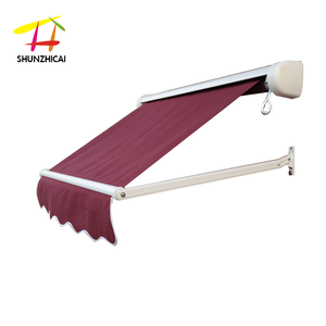 electric cassette portrait retractable awning mechanism made in China, rain protection for windows