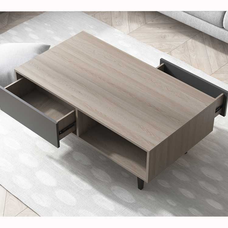 2018 modern style hot sale panel wooden coffee table for home