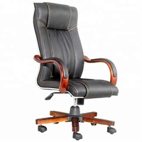 Classic Boss Revolving Chair Modern Chairman Swivel Office Chair Executive Black Leather Office Chair