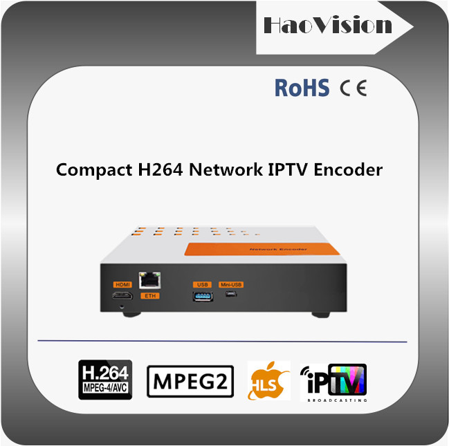 Compact hd encoder for iptv streaming server with USB port for recording