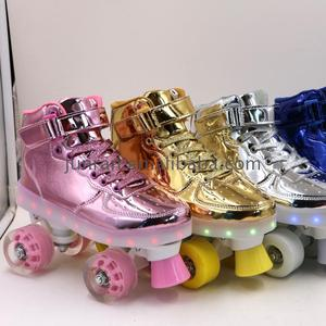 High quality stainless steel roller skate rhinestone transfer inline function shoes for advertisement