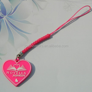3d pvc beautiful key chain mobile phone key chain
