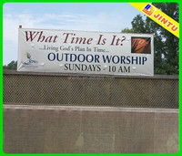 Advertising perforated vinyl banners and signs