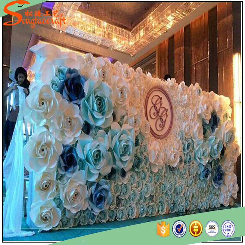 Flor Artificial Para Papel De La Decoracion Mural Flores