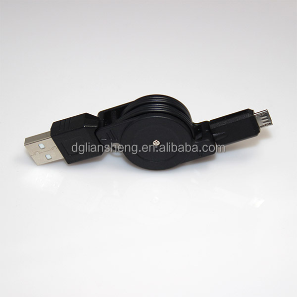 Logo Custom Retractable USB Cables with Ultrasonic Housing