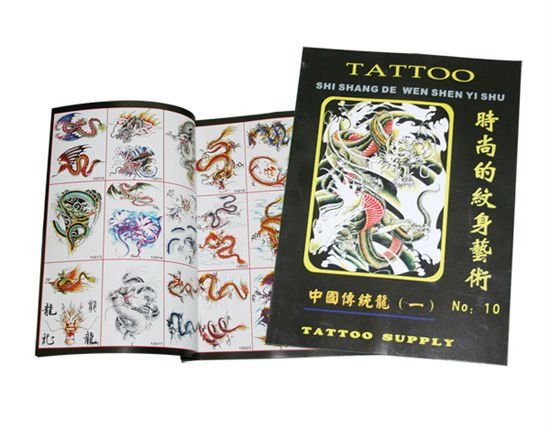2017 hot sale chinese dragon tattoo flash book