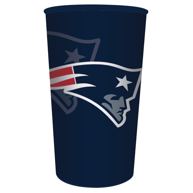 Creative Converting NFL 20 Count Plastic Souvenir Cups, New England Patriots, 22 oz, Blue