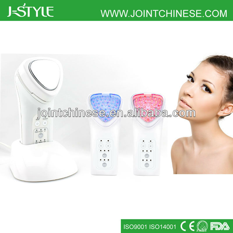 Rechargeable Battery 3 IN 1 LED Light Photon Skin Rejuvenation Galvanic Facial Massage Beauty Products Manufacturer