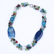 colourful crystal necklace big stone jewelry