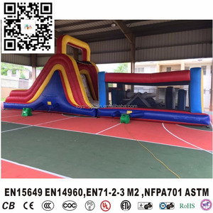 Commercial Cheap Inflatable Castle Playground, Obstacle Garden Playground ,Inflatable Obstacle Bouncer and Slide for Kids
