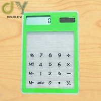Cross-border custom supply factory direct solar transparent calculator touch screen gift calculator