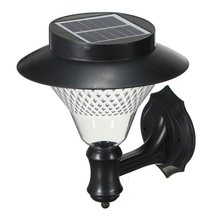 Plastic ABS solar outdoor light 16 LED outdoor decoration spike mounted landscape light wall lamp