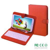 7 8 9 10 inch Universal tablet case withn different language keyboard with CE certificate