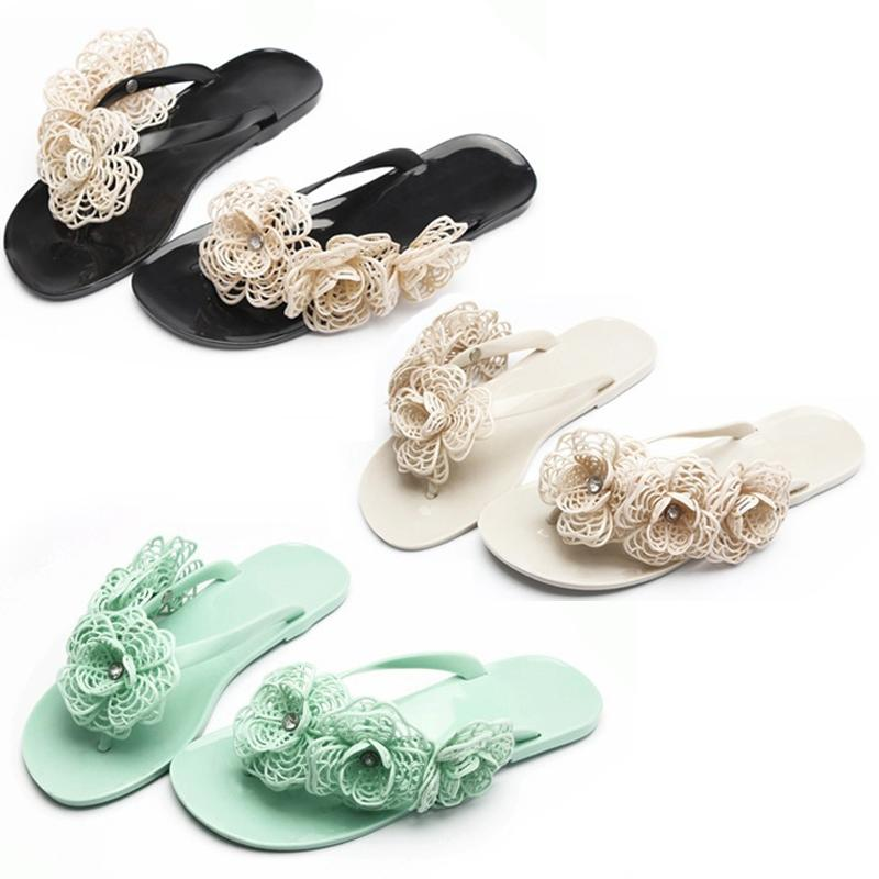 391497949f5739 Get Quotations · New 2015 Hot Summer Women Stereo Floral Beach Sandals Flat  Shoes Thongs Slippers Flip Flops