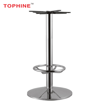 Commercial Contract Mirror Chrome Finish Chrome Steel Bar Table Base - Commercial table bases