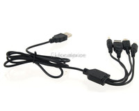 china wholesale price 4-in-1 universal USB Charging Cable for PSP / NDS / NDSL / NDSi - Black (120cm) paypal accepted