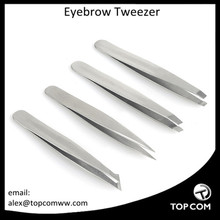 4 Pcs Useful Professional Eyebrow Tweezers Hair Beauty Slanted Stainless Steel