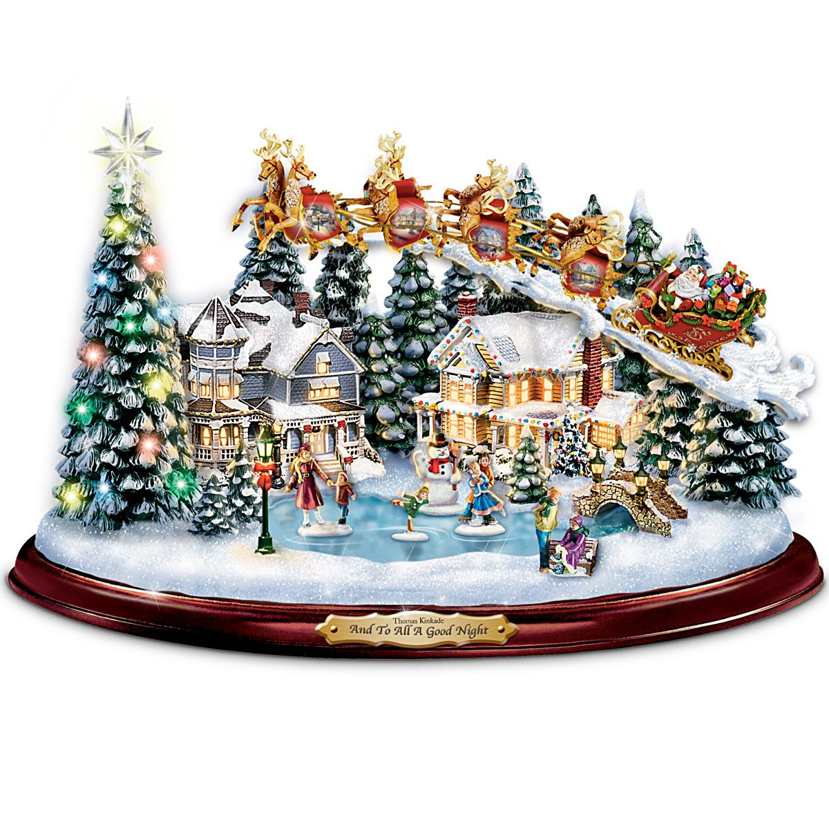 Buy Thomas Kinkade And To All A Good Night Christmas Sculpture by ...
