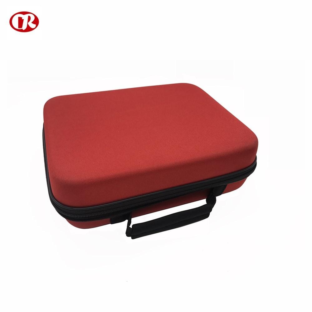 Couleur rouge de surface de tissu portatif de taille faite sur commande durable boîte de trousses de premiers soins