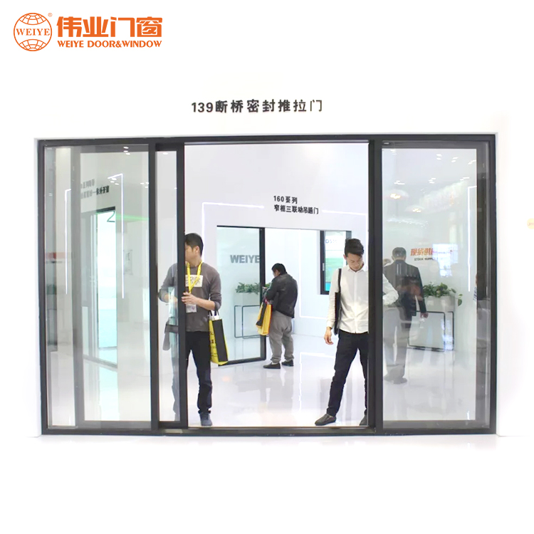 Cost-effective aluminum alloy sliding seal single glass door for sale
