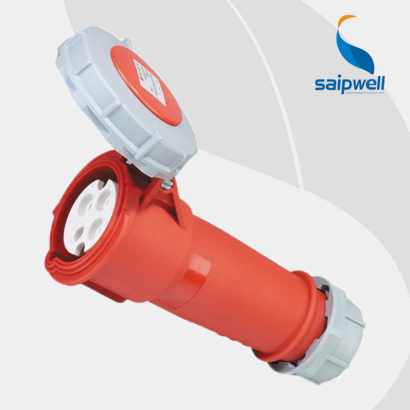 Wholesale Saipwell 32A 400V 4P (3P+E) 4 pin industrial socket EN / IEC 60309-2 Motor socket plug IP67 weatherproof socket SP556