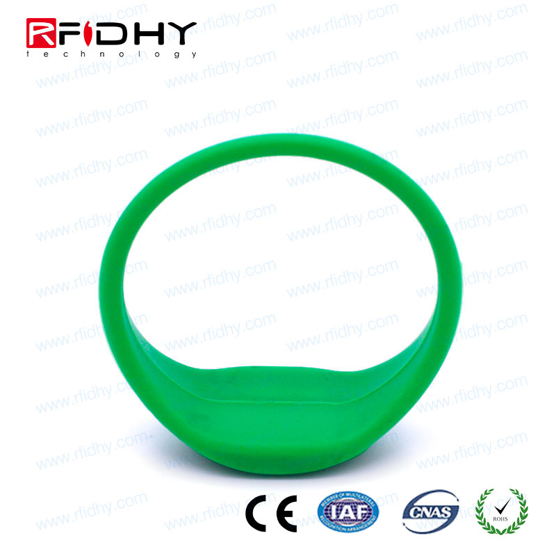 smart silicone RFID wristbands/rfid led wristband for hotel door lock system