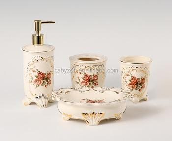 2017 Modern Golden Stylish Ceramic Bathroom Accessories/sets,for Home Decor