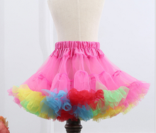 super puffy girls birthday tutu pettiskirt rainbow pettiskirt