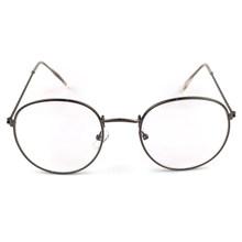 Металлическая печать Круглая Большая оправа очки унисекс декоративные очки Легкие прозрачные линзы ретро очки(Китай)