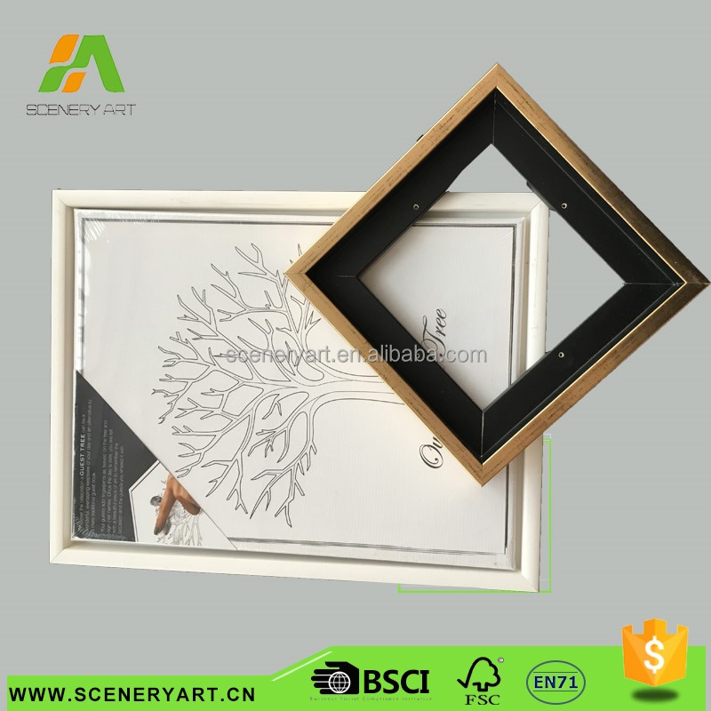 New Style mini wooden outer frame christmas decoration