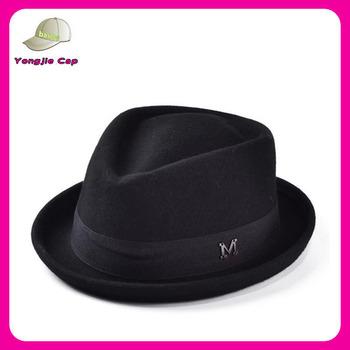 567faf549572b Men s 100% Wool Felt Soft Crushable Stingy Brim Vintage Fedora Hats ...