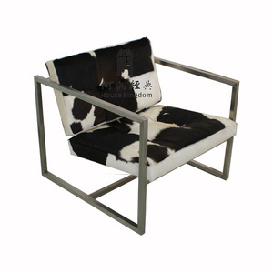 Modern Delano Chair / cowhide steel frame chair (COCO-606-PONY#)