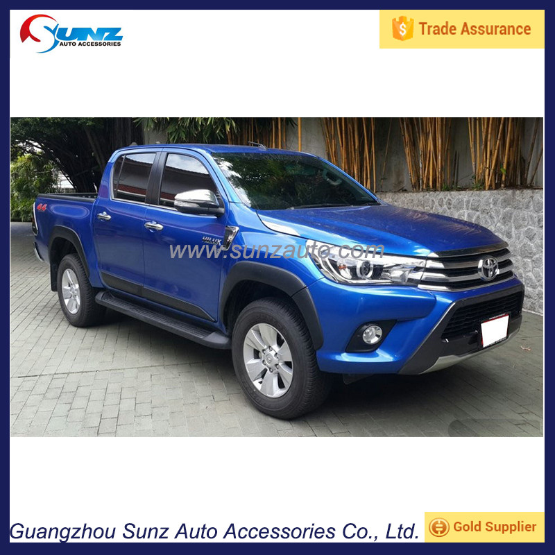 New Vigo Fender Flares Black Fender Flares For Toyota Hilux 2016 ...