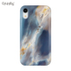 Custom IMD Marble Pattern Glossy PC Back Cover TPU Frame Shock Proof Fashion Phone Case Shell For iPhone X