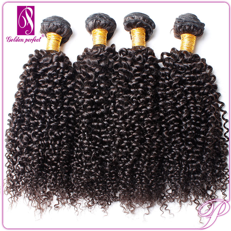 Golden Perfect hari no tangle high quality grade 8A virgin Cambodian jerry curl weave extensions human hair