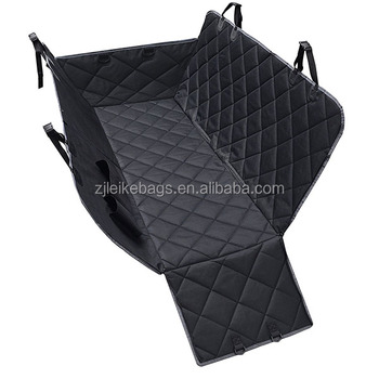 Now Promotional Price Dog Seat Covers 600D Waterproof Pet Car Seat Cover with Zipper and Pocket