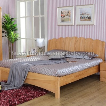 Design Furniture Bedroom King Bed,wood Double Hotel Bed Designs