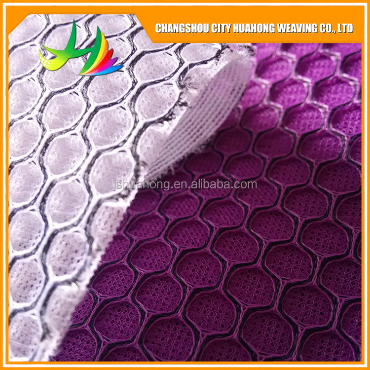 3d mesh fabric waterproof,100% polyester,sandwich mesh fabric polyester sandwich net cloth,Soft, flame retardant