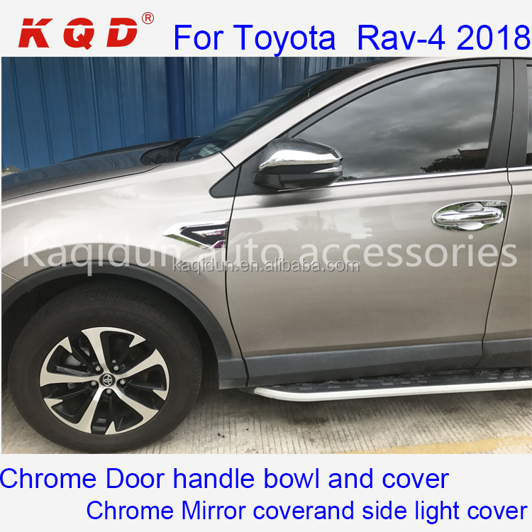 For Toyota Highlander 2015-2018 Chrome Side Door Mirror Rearview Cover Accessory