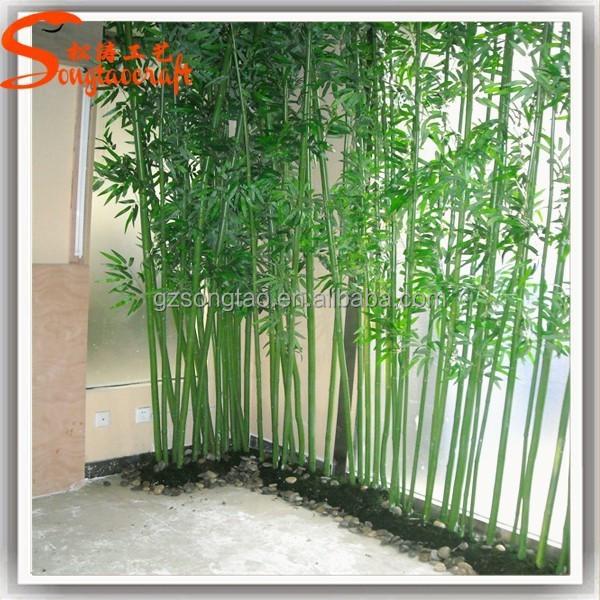 Guangzhou Pemasok Grosir Beruntung Bambu Tiang Bambu Plastik Buatan Murah Daun Pohon Cabang