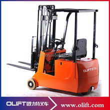 Qingdao Forklift Hydraulic Three wheels full electric Forklift 2500mm 500kg