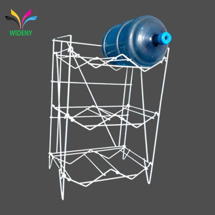 Home Office Metal Wire Irom 3 tiers stackable 5 Gallon Water Bottles Dispenser stand storage rack Holder