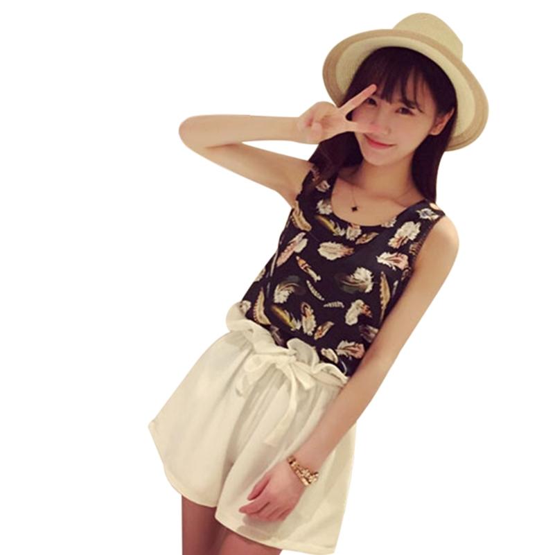 Лето женский стиль бад дикий мода сплошные цвета свободного покроя широкий эластичный плиссе высокая талия шорты один размер бесплатная доставка