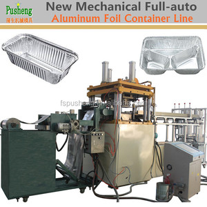 High quality New disposable cutlery aluminum foil container punching machine