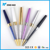 The latest design metal crystal pens multicolor diamond ballpoint pens high-grade office stationery class gift pen