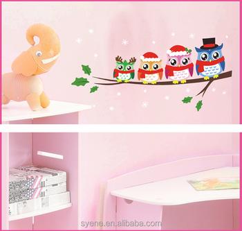 3d Cute Owl Wall Stickers Cartoon Animal Wall Decals Owl Family Kids Baby  Nursery Room Tree