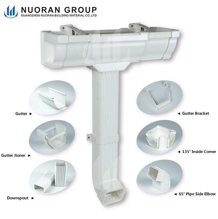 High Quality Low Cost Pvc Guttering And Downpipes For Roof