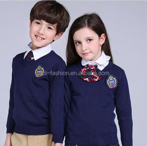 2019 2020 cheap custom kids school uniform sweater